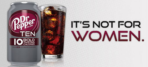 Dr. Pepper Markets New Drink for Men, No Women Allowed photo