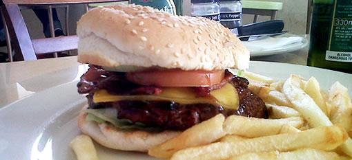 Narona cheese & bacon burger photo