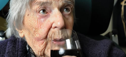 107 year old says red wine and chocolate keep her living photo