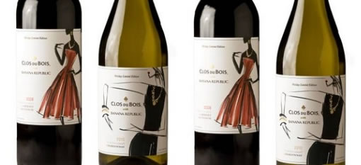 Banana Republic links QR codes on wine bottle to party-planning content photo