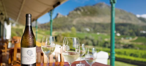 Spectacular views with a touch of pink at Constantia Glen photo