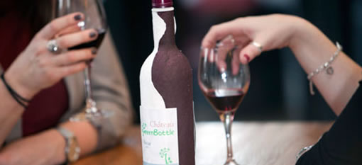 First came the plastic cork, now get ready for the paper wine bottle photo