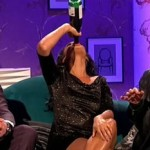 Strictly Come Dancing Judge Downs Bottle of Wine on Chat Show photo