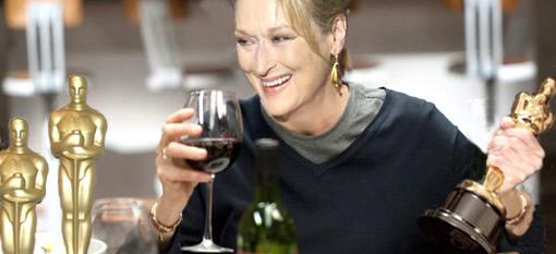A glass of wine with Meryl Streep photo