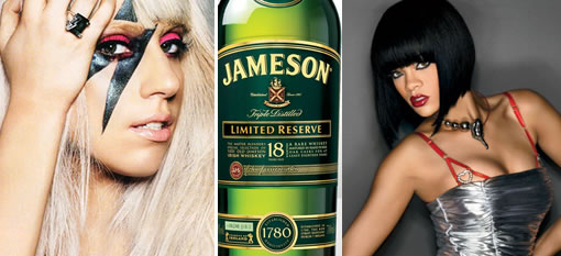Lady Gaga and Rihanna are both fans of Jameson photo