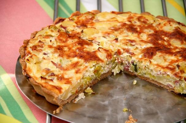 Bacon, Spring Onion and Gouda Quiche photo