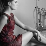 The worlds first dress made from red wine photo