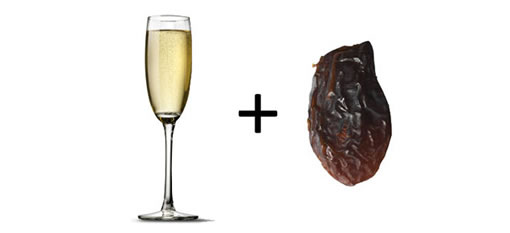 Drop a raisin in your Champagne to restore carbonation photo