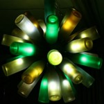 Turn your empty wine bottles into a striking light photo