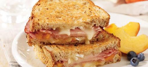 A Peachy Brie Sandwich for Breakfast photo