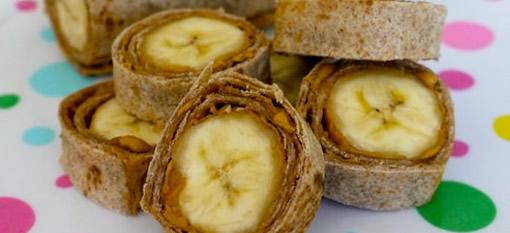 Banana and Peanut Butter Roll-ups photo