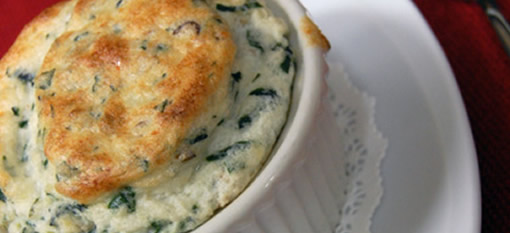 Spinach and Exotic Mushroom Soufflé photo