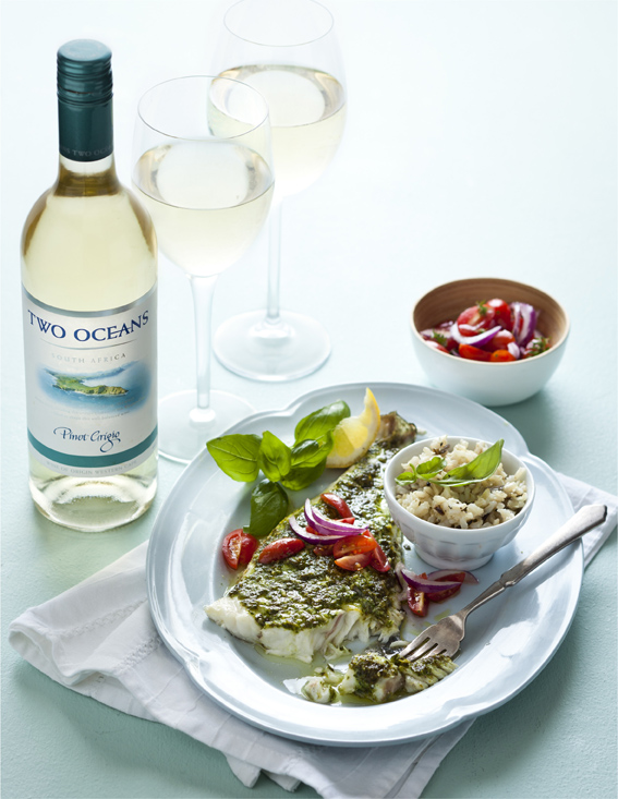 Justine Drake Suggests a Salsa Swing For The Two Oceans Pinot Grigio photo