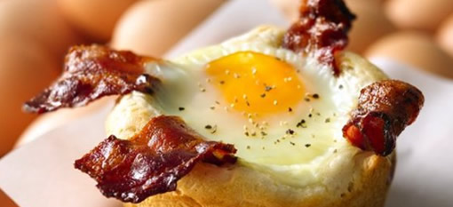 Bacon and Egg Breakfast Cupcakes photo