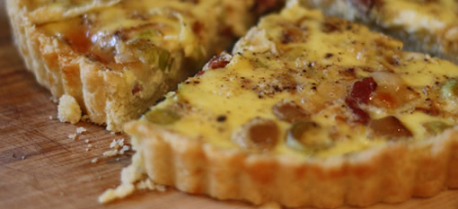 Butternut Squash, Bacon and Blue Cheese Quiche photo