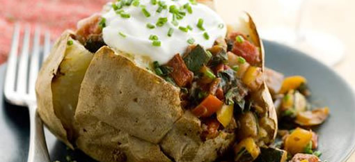 Healthy Baked Potato with Ratatouille photo