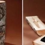 Packaging Spotlight: Wine in a tree trunk photo