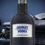 Absolut Vodka slips on skinny jeans photo