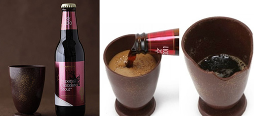 Chocolate Glass Enhances Flavour of Beer photo