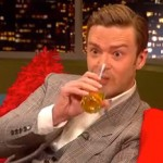 Justin Timberlake gets liquored-up on Tequila on the Jonathon Ross Show photo