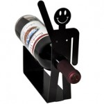 Happy Guy Metal Art Wine Holder Rack photo