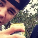 Justin Bieber Drinks Beer On Instagram photo