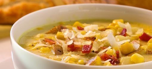 Creamy White-Cheddar Corn Chowder photo