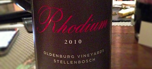 Wine of the week: Oldenburg Rhodium 2010 photo