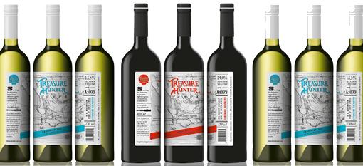 Packaging Spotlight: Treasure Hunter Wines photo