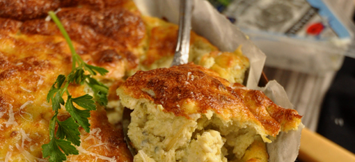 Leeks and Blue Cheese Souffle photo