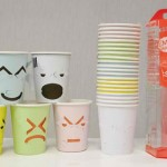 Tear-Off Party Cups Reveal Customizable Emoticons photo