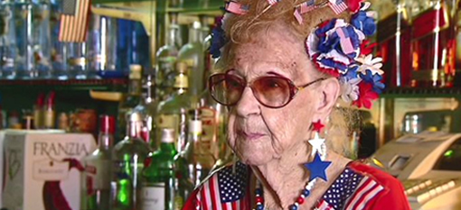 The World`s Oldest Bartender Clocks in at 98 Years of age. photo
