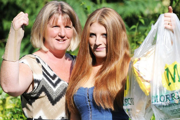 Injured mum refused wine because teenage daughter was helping her pack Morrisons shopping photo