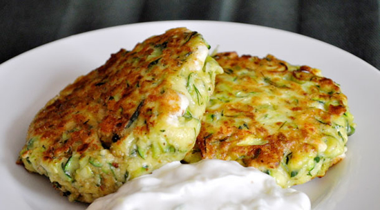 Crispy zucchini pancakes photo