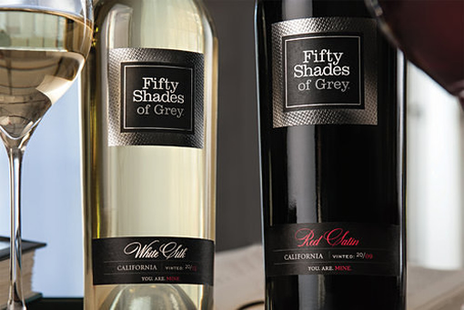 Fifty Shades of Grey author releases wine photo