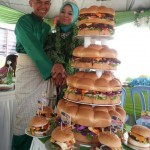 True love, in the form of a wedding burger cake photo