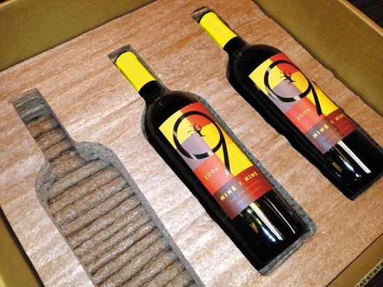 Corn-foam wine shippers can be enviro win photo