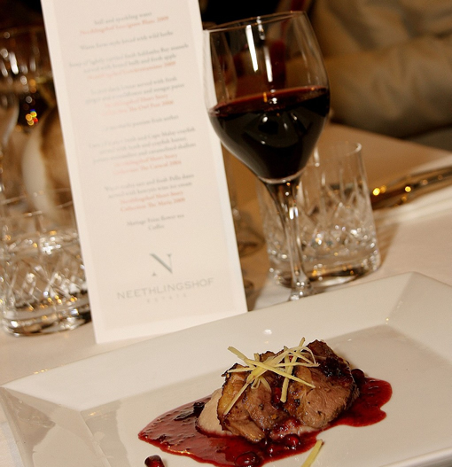 Food and Wine evening at Neethlingshof with Katinka van Niekerk photo