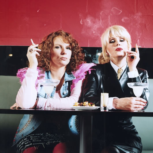 Boozy, druggy adults. Sober, serious kids. Welcome to Ab Fab Britain photo