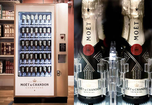 Champagne Vending Machine Attempts To Downplay Moet's Luxe Image photo
