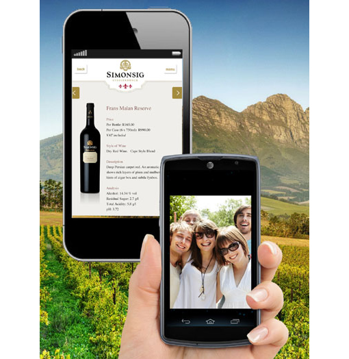 Simonsig Wine Estate launches mobi site photo