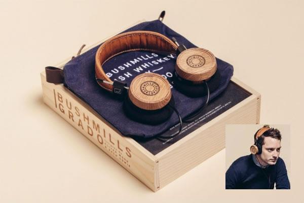 Elijah Wood creates headphones from Bushmills whiskey barrels photo