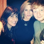 Ed Sheeran wore shorts and drank wine to celebrate Thanksgiving with Jennifer Aniston and Courteney Cox photo