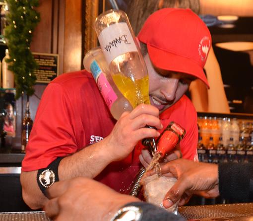 Vegas bartender breaks cocktail Guinness World Record photo