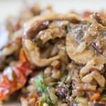 Mushroom Rice Salad with Portabella Vinaigrette photo