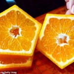 Farmers in Japan create pentagon-shaped fruits photo