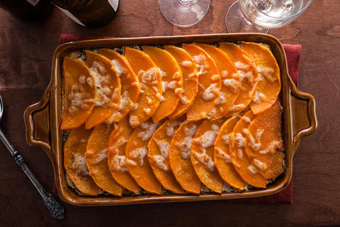 Vegetarian Butternut Squash and Swiss Chard Polenta Lasagna Recipe photo