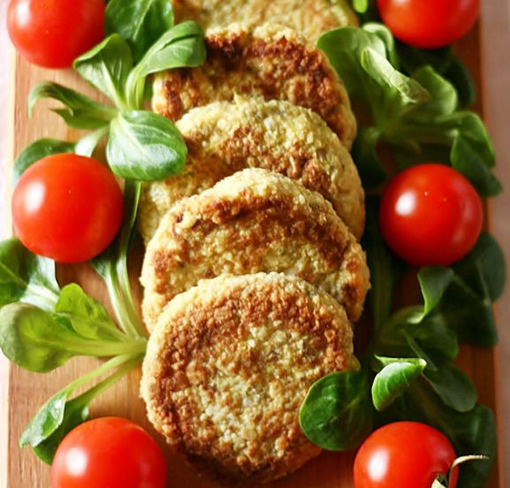 Cauliflower and Chickpea Patties with Chia Seeds photo