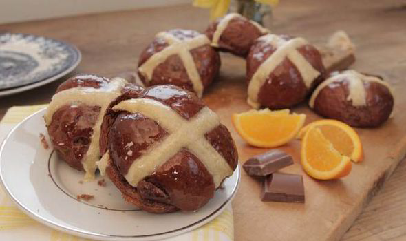 Easter treats: Spiced chocolate and orange hot cross buns by Bake Off winner Edd Kimber photo