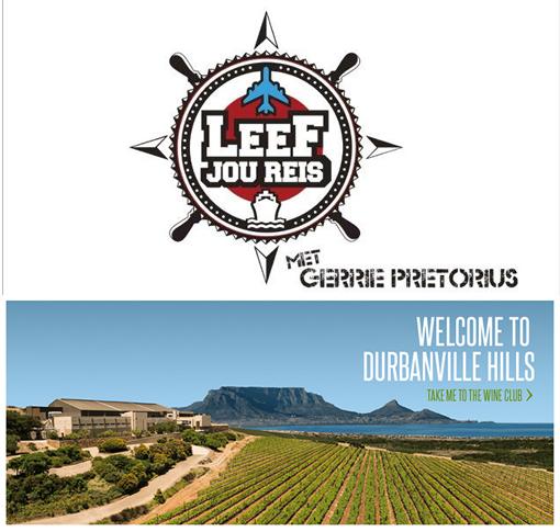 "Durbanville Hills is the official wine sponsor of Kyknet's ""Leef Jou Reis"" photo"